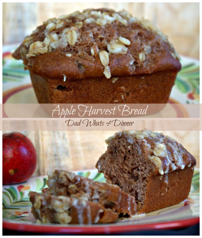 Must make Apple Harvest Bread with Cider Glaze is perfect for fall. Great for breakfast or as a snack.