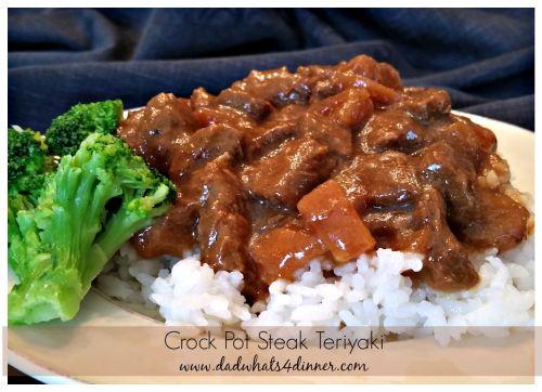 Crock Pot Steak Teriyaki | www.dadwhats4dinner.com