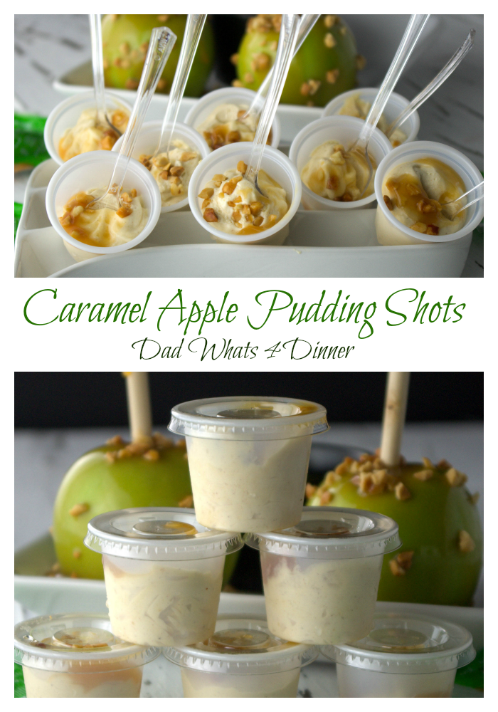 Caramel Apple Pudding Shots are perfect for your fall parties or tailgating. Just like favorite fall treat with a nice little kick!