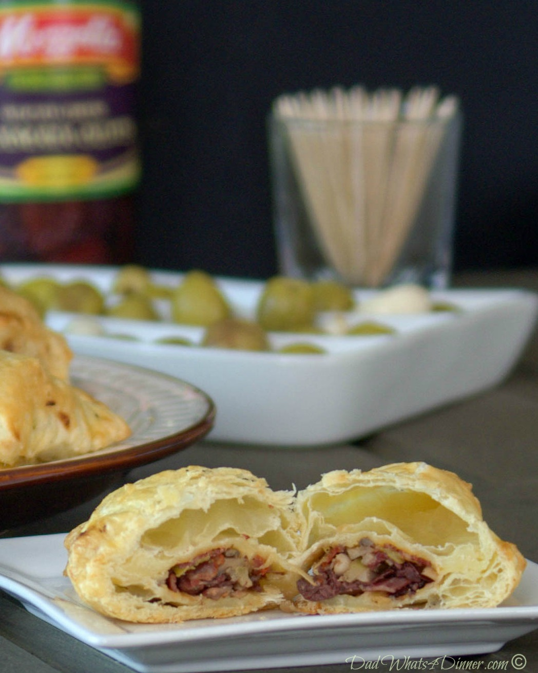 Elegant Olive Brie Puffs | www.dadwhats4dinner.com