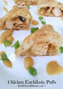 Chicken Enchilada Puffs | https://dadwhats4dinner.com