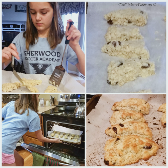 Oatmeal Raisin Scones | http://dadwhats4dinner.com