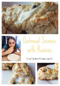Oatmeal Raisin Scones | http://dadwhats4dinner.com