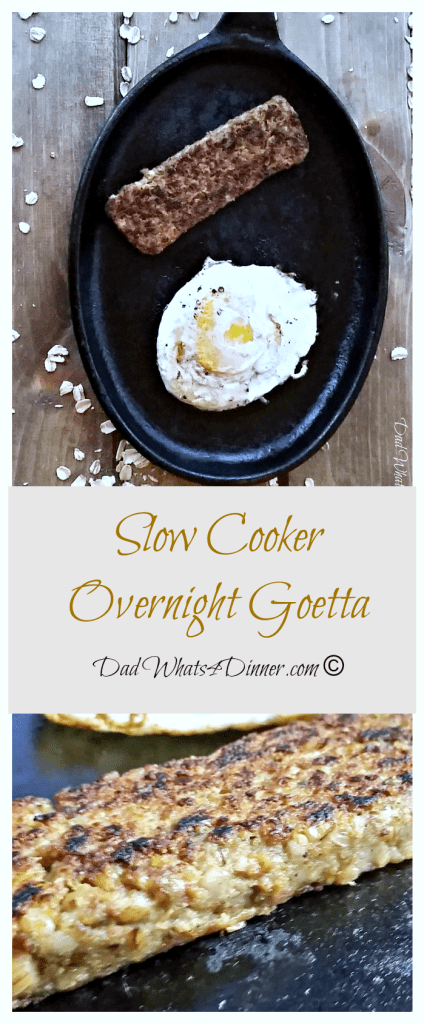 Slow Cooker Overnight Goetta | http://dadwhats4dinner.com