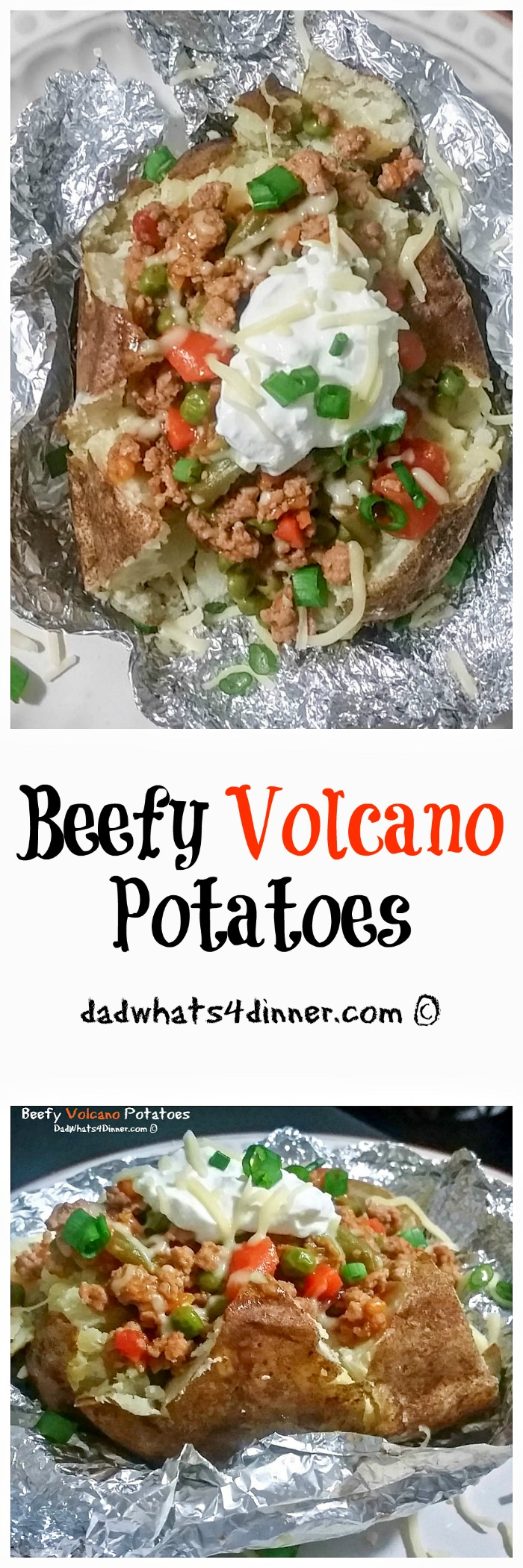 Beefy Volcano Potatoes is the perfect easy weeknight meal even your kids can make. Cooking with kids recipes
