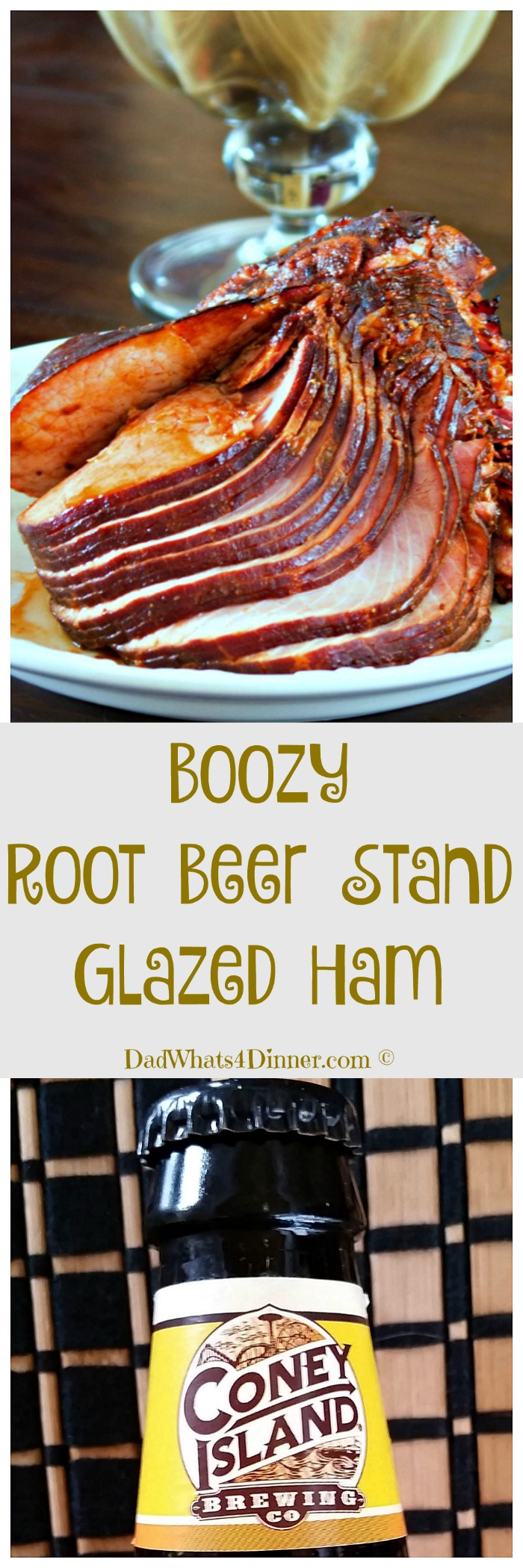Boozy Root Beer Stand Glazed Ham may not be the most politically correct recipe, but the glaze is so good and all of the alcohol burns off.