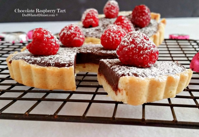 If you want to impress your significant other, make this Chocolate Raspberry Tart. The ultimate Valentine's Day dessert!| http://dadwhats4dinner.com