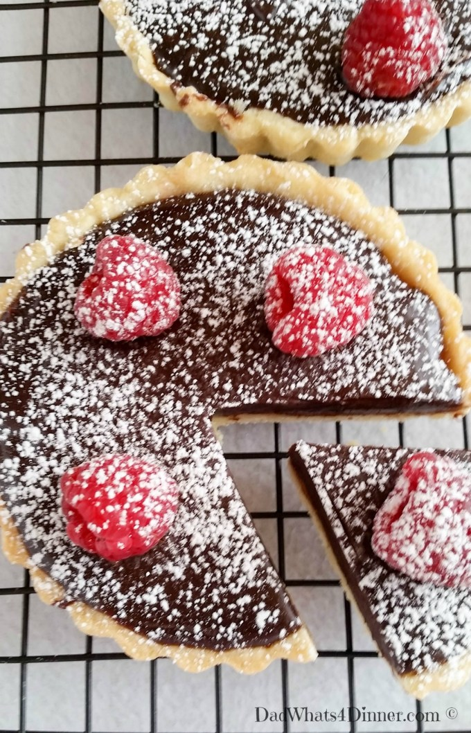 If you want to impress your significant other, make this Chocolate Raspberry Tart. The ultimate Valentine's Day dessert! | https://dadwhats4dinner.com