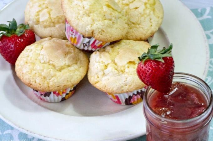 Strawberry Sugar Muffins