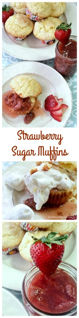 Strawberry Sugar Muffins is the ultimate breakfast or dessert. The sauce is made with fresh strawberries and served over sweet sugar cookie muffin.