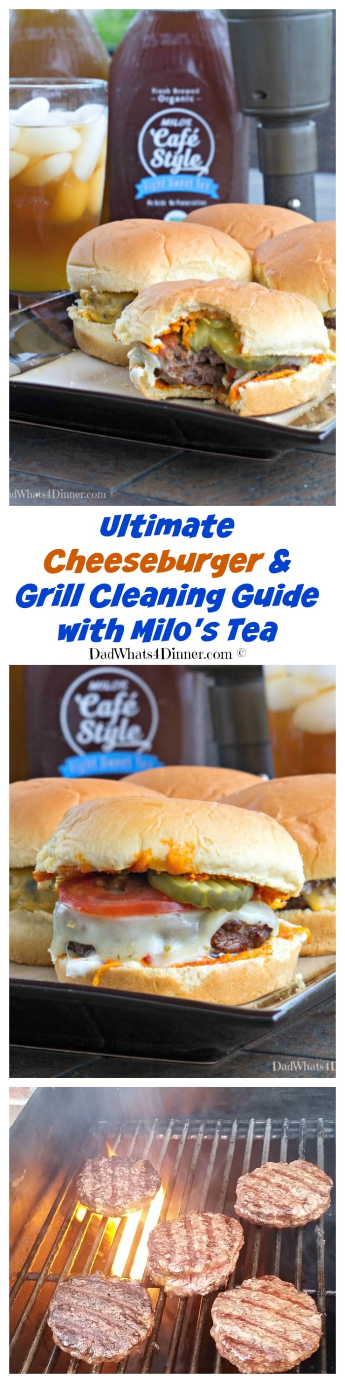 Summer grilling season is in full swing and my Ultimate Cheeseburger and Grill Cleaning Guide is all you need to keep the family fed and happy. www.dadwhats4dinner.com