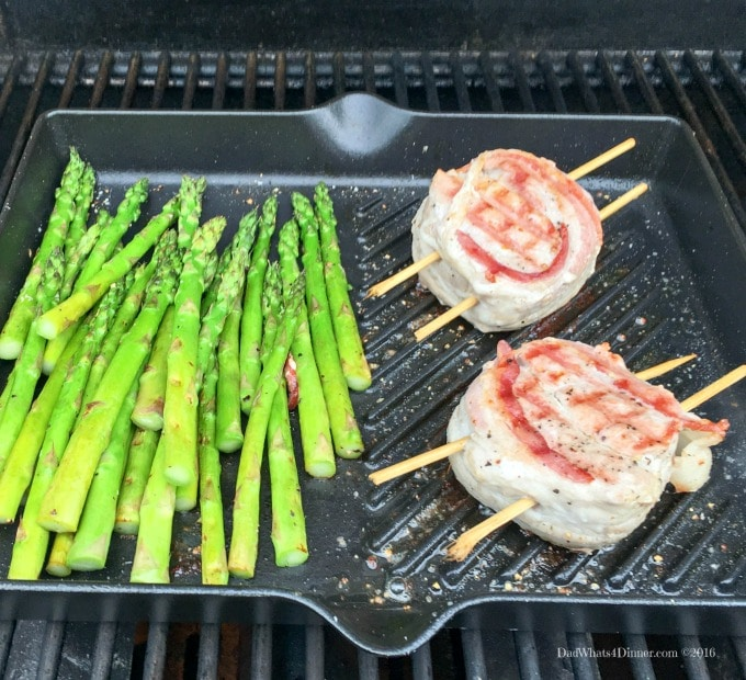 My Grilled Bacon Wrapped Greek Pork Medallions is your perfect meal for Father's Day.