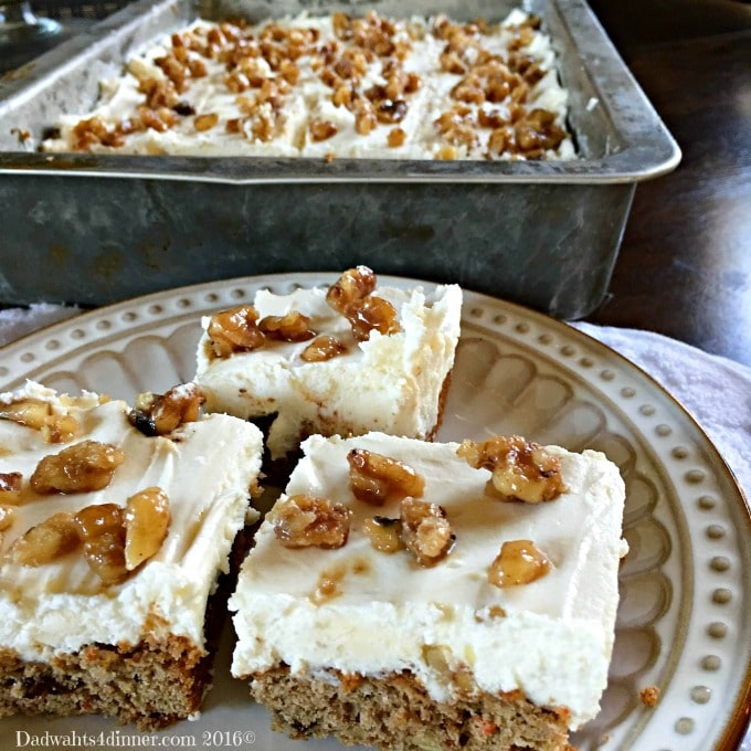 Cream Cheese Frosted Carrot Cake Bars