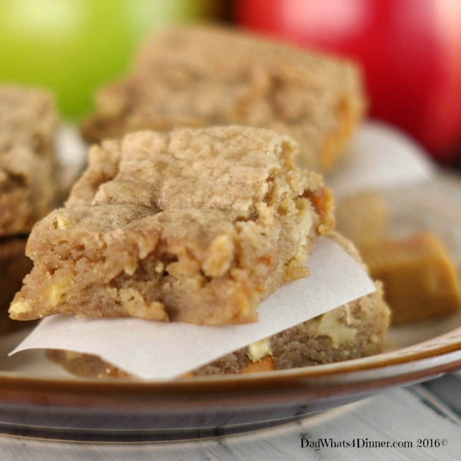 Apple picking season is here and if you want the taste of fall in a blondie then my Caramel Apple Bars will be your new favorite sweet treat.
