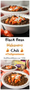 Take your tailgating food to whole new level with my Game Day Black Bean Habanero Chili!!! Healthy and spicy! #Tailgreatness #ad
