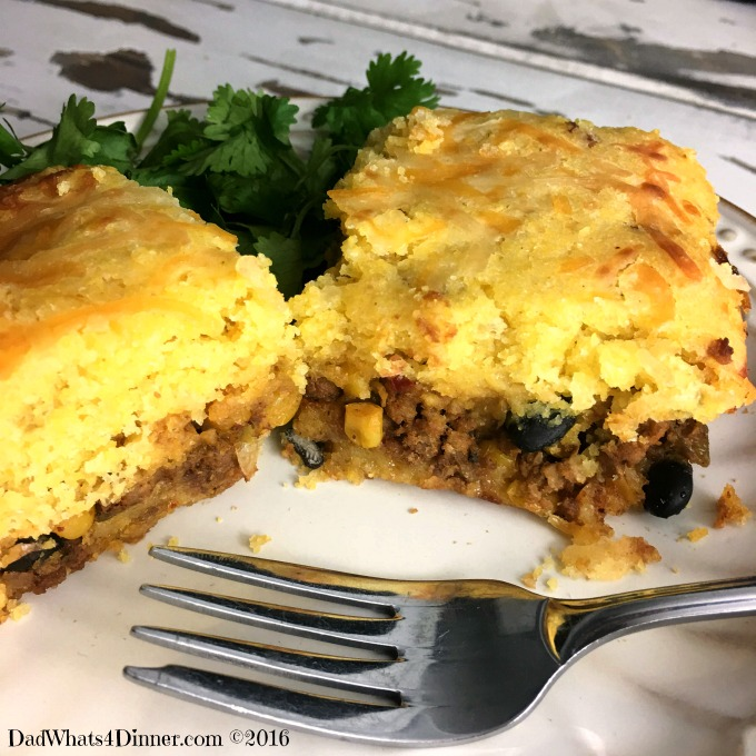 Mexican Cornbread With Ground Beef layered mexican cornbr...