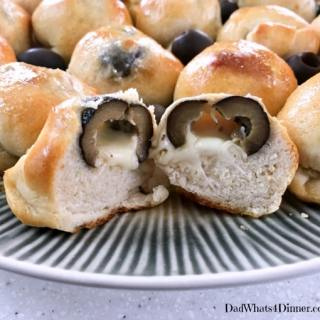Spicy Olive Cheese Bombs