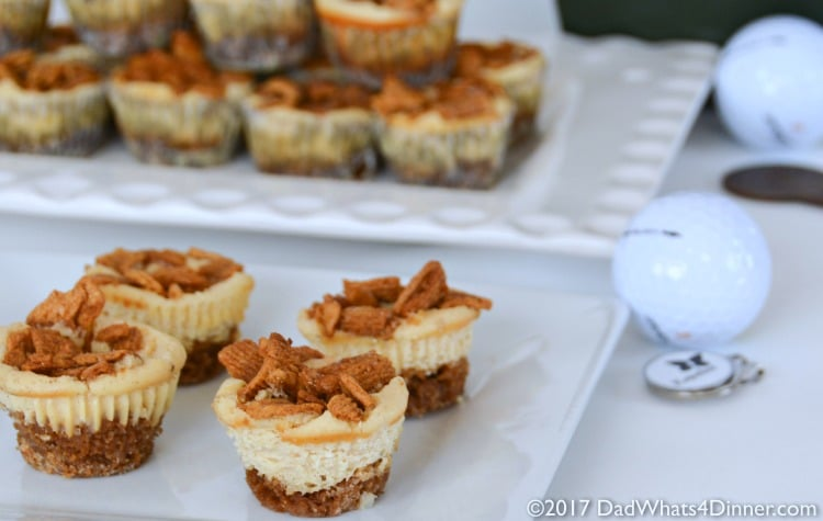 Golden Grahams Mini Cheesecake Tarts is a simple treat the kids can make Dad for Fathers Day. Mini cheesecake tarts made with dads favorite cereal.