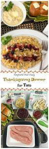 Just because there are only two of you doesn't mean you can't have an Elegant Thanksgiving Dinner for Two that can be on the table in around 30 minutes. #ad #Thanksgiving #Dinner #Premium #AlexiaVeggieSides