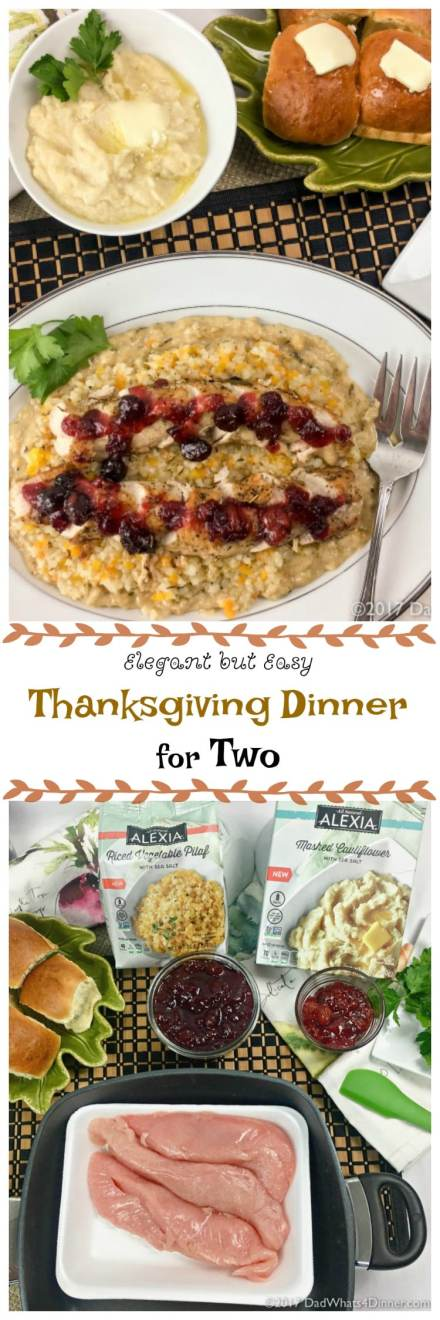 Just becausethere are onlytwo of you doesn't mean you can'thaveanElegant Thanksgiving Dinner for Two. Bonus the dinner can be on the table in about 30 minutes.