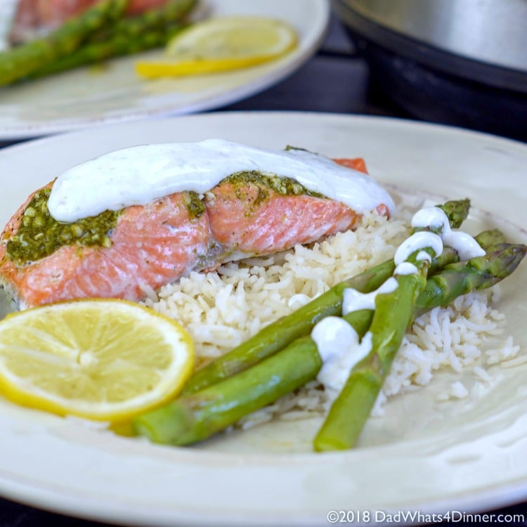 Instant Pot Lemon Dill Salmon