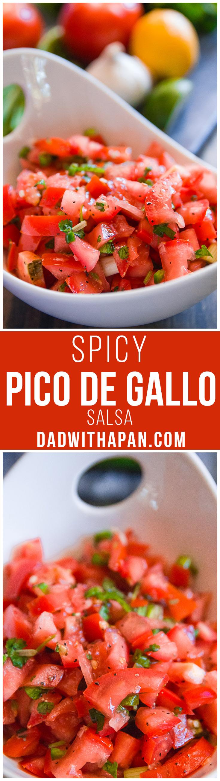 Spicy Pico De Gallo #Salsa #Tomatoes #Jalapeno