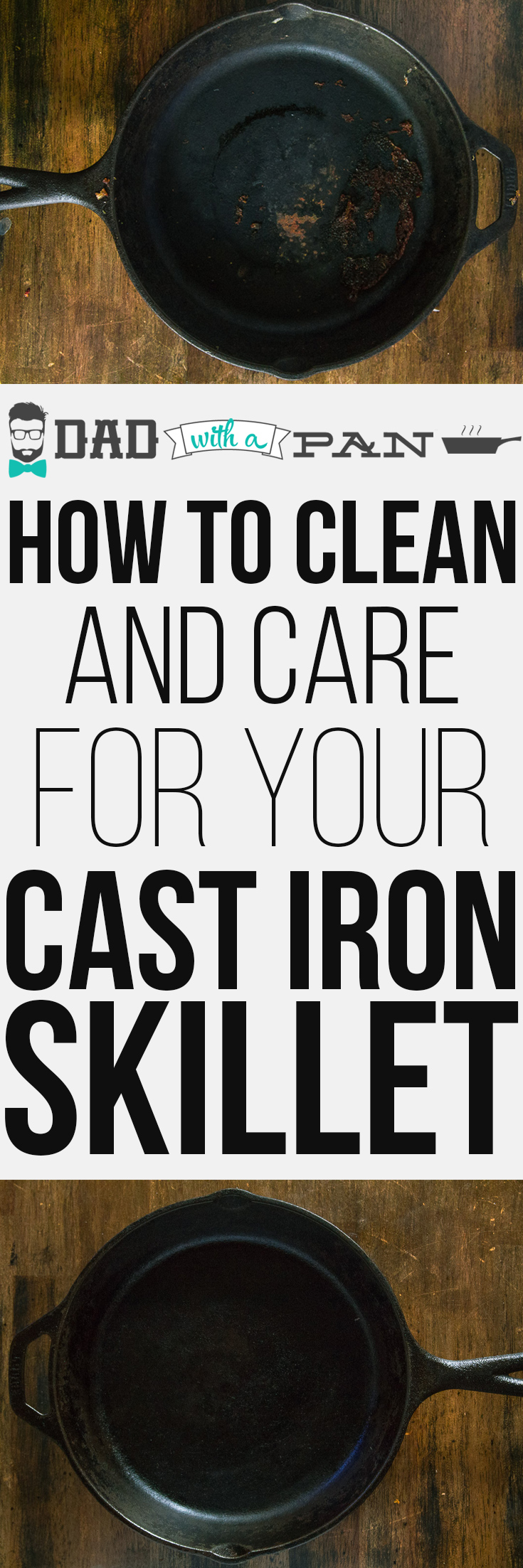 How-To-Clean-And-Care-For-Your-Cast-Iron-Skillet-pinterest