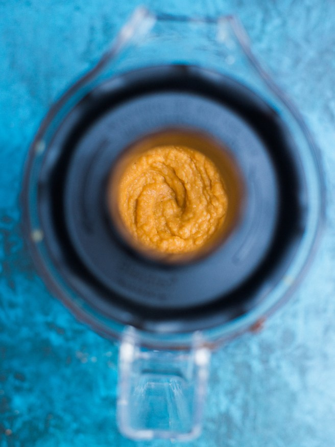 This sriracha hummus can be made in under 10 minutes, has bold flavor and nice heat that you'll want to put on everything!