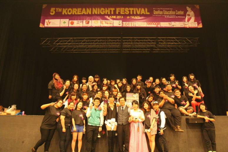 Volunteers of Korean Night Festival 5th