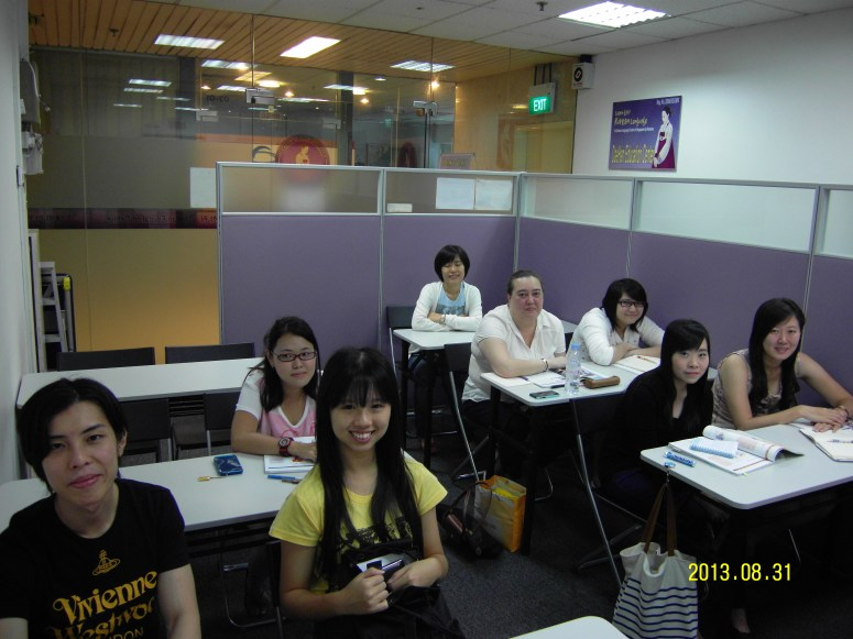 Teacher Ms Park and her students Learn Easy Korean at Daehan Korean Language Centre