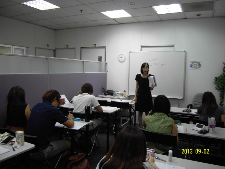 Teacher Ms Sng and her students Learn Easy Korean at Daehan Korean Language Centre