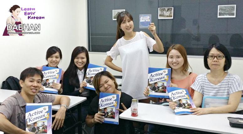 Teacher Ms Hara Ku and her students of Korean Language Course