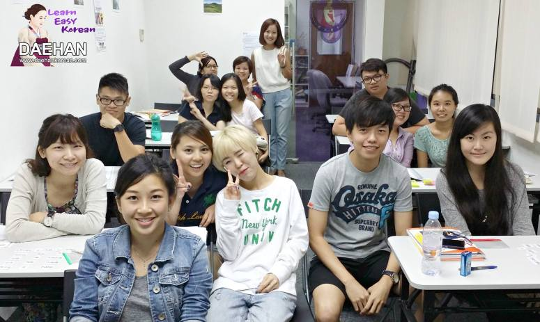 Teacher Ms JY Park and her students of Korean Language Course