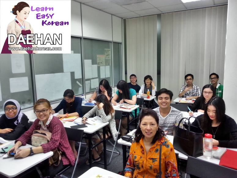 Teacher Ms SE Jang and her students of Korean Language Course