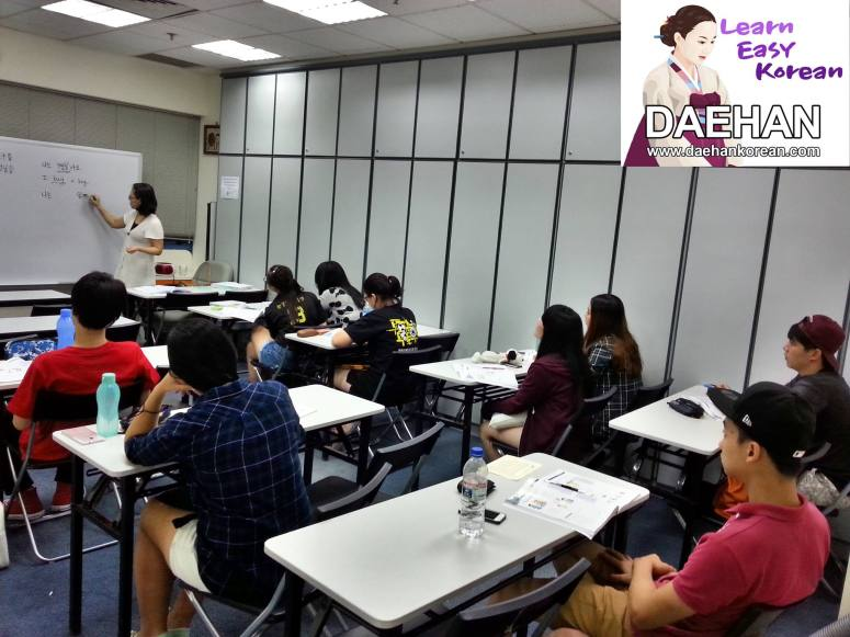 Teacher Ms SK Park and her students of Korean Language Course