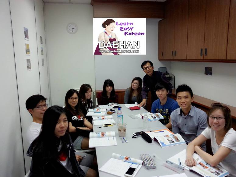 Teacher Mr Harry Quek and his students of Korean Language Course