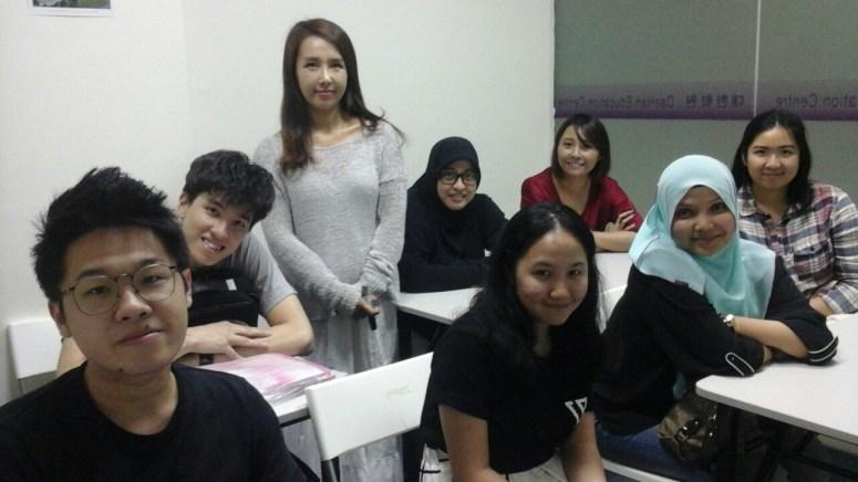 Teacher Ms HJ Kim and her students of Korean Language Class