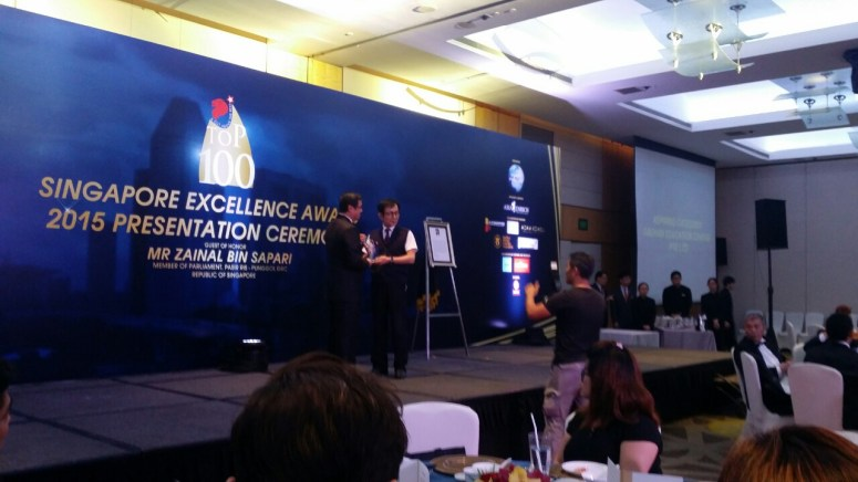 Daehan Korean Language Centre gets TOP 100 Singapore Excellence Award 2015