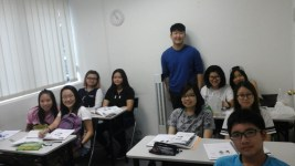 Teacher Ms Ku Halim and his Students Class of Korean Language Course