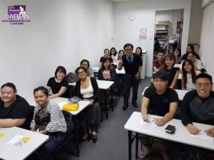 Teacher Harry Quek and his students of Korean Language Course
