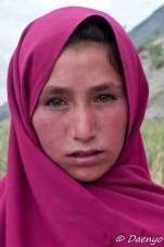 Girl in Shigar Valley, Skardu