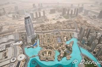 View from top of Burj Khalifa, Dubai