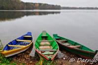 Boats at Trakai Castle, Lithuania