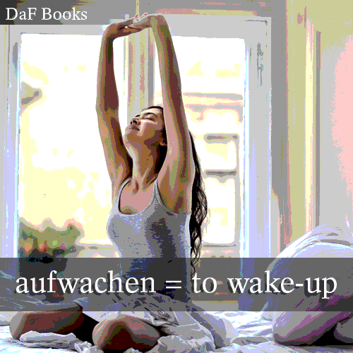 aufwachen - to wake-up: DaF Books vocabulary list