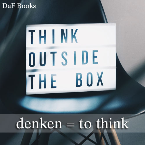 denken - to think: DaF Books vocabulary list