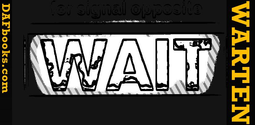 warten = to wait