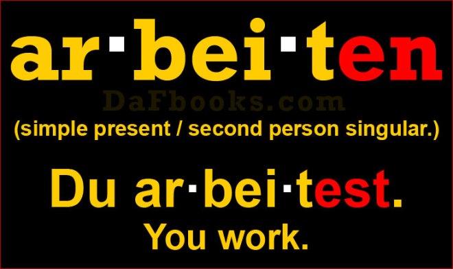 Conjugation Arbeiten: Du arbeitest.