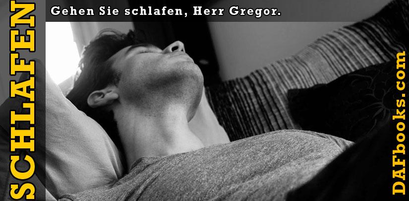 Gehen Sie schlafen, Herr Gregor.