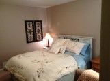 "Queen Headboard in Annie Sloan Chalk Paint ""Old White"" (see separate photo for headboard alone)"