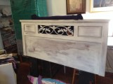 "Queen Headboard in Annie Sloan Chalk Paint ""Old White"""
